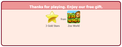 Zoo World is giving away free Gold Stars