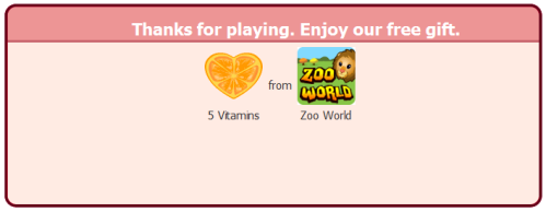 Free Vitamins for Playing Zoo
