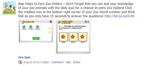 Zoo World on Facebook