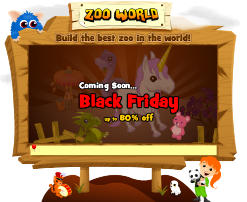 Black Friday Comes to Zoo World