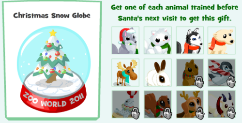 Zoo World Christmas Snow Globe