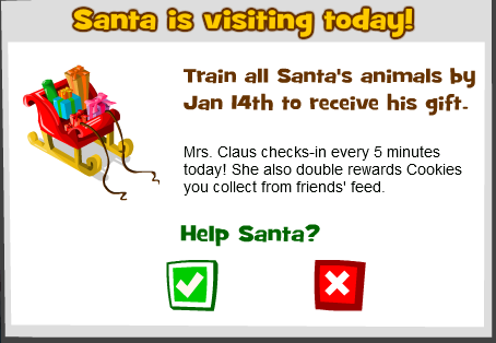 Santa Visits Zoo World, January 10th