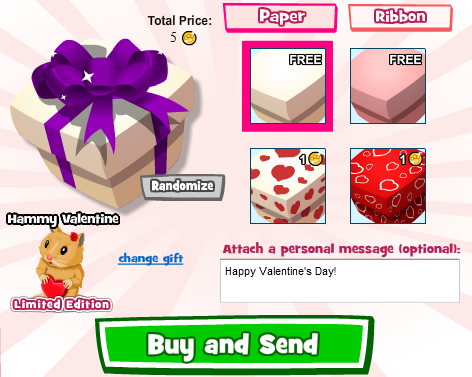 Valentine's Day Gifting in Zoo World