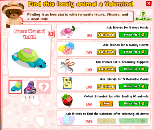 Valentine's Day in Zoo World Popup