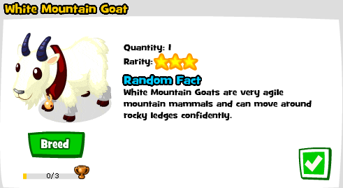 Completed White Mountain Goat in Zoo World