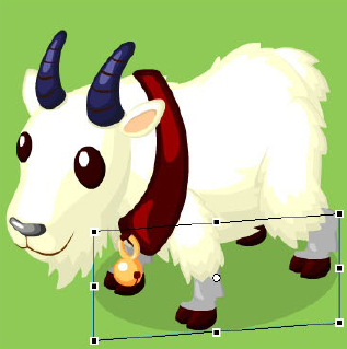 Finished Mountain Goat, with Shadow
