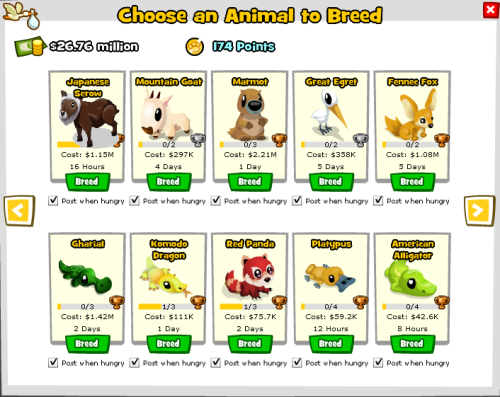 Zoo World Breed Menu - Plus a Marmot