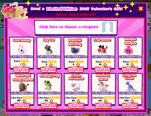 Gifting Main Screen