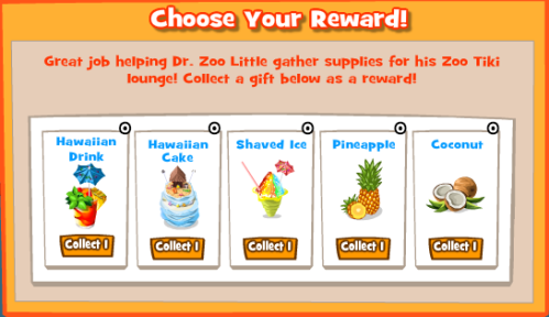 Summer Luau Choose Reward