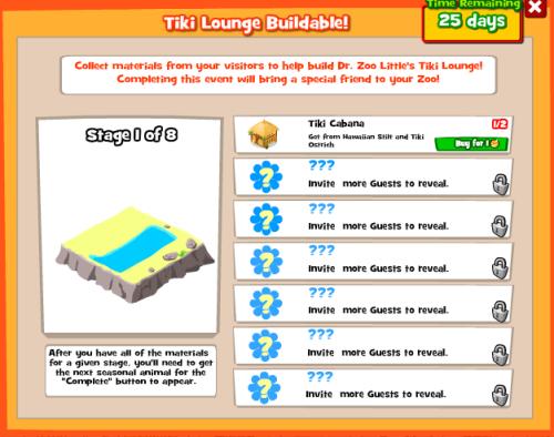 Summer Luau Tiki Buildable Menu