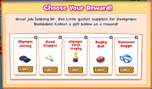 Zoolympics Choose Reward