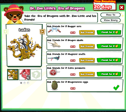 Dragon Era Menu