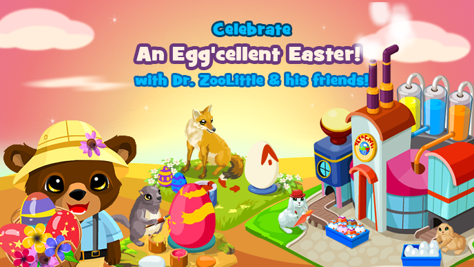 Easter egg the official zoo world blog prepare yourself for the most exciting easter hunt as dr zoolittle decides to build an easter egg factory full of surprises solutioingenieria Images
